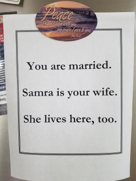 Refrigerator sign